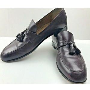 Cole Haan Burgundy Pinch Tassel Loafers Size 14 D